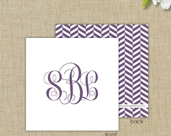 Personalized gift enclosure cards with envelopes. Monogram Gift Enclosure Card
