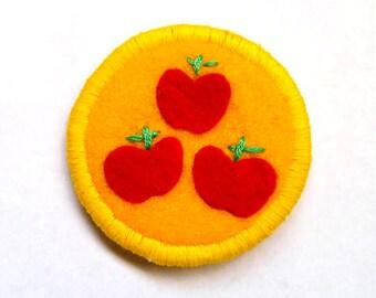 Applejack Cutie Mark My Little Pony Friendship is Magic Badge Pin Patch