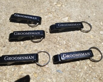 Personalized Engraved Bottle Opener Keyring, Wedding Gift, Wedding Favors, Bottle Opener Keychain, Metal Bottle Opener Keyring, Cute keyring