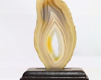 Dyed Agate Slice ( Yellow ) - FREE GIFT with EVERY purchase