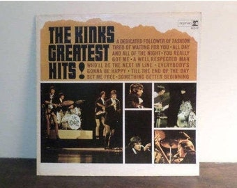 Vintage 1966 Vinyl LP Record The Kinks Greatest Hits First Pressing Mono Excellent Condition 9522