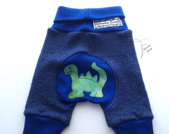 0-6 months - Recycled Dinosaur Merino Wool Shorties Jecaloones - Size Small Shorts