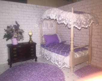 Canopy bed and bedding