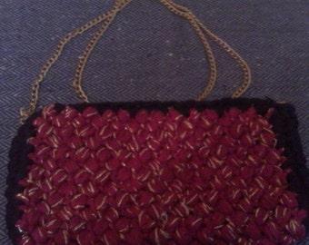 Night crochet shoulder bag
