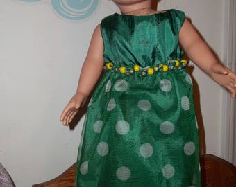 """18"""" doll Green gown with tulle skirt 332E"""