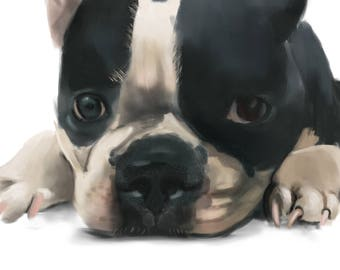 Pet Portrait, Custom Pet Portrait, Personalized, Mom Gift, Dog Lover Gift, Pet Memorial, Pet Paintings, Pet Loss Gift, Wall Art