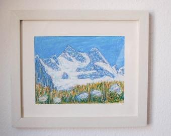 Swiss mountains Sunnega, Zermatt - Switzerland art