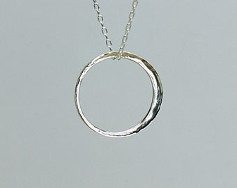 New Moon Pendant, Larger Size in Sterling Silver