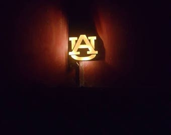 Wooden Glowing Auburn Sign