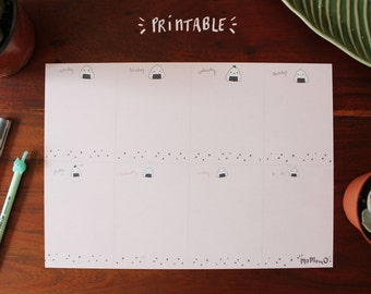 Desk weekly planner - Onigiri - Momomo