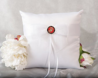 Military Wedding Ring Bearer Pillow Air Force - Navy - Army - Marines - 750089