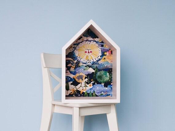 Regal Haus Kinderzimmer : holzhaus regal haus regal kinderzimmer kinder dekor ~ Watch28wear.com Haus und Dekorationen