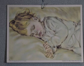 Baby Sleeping Vintage Print 1930 Ralston Purina