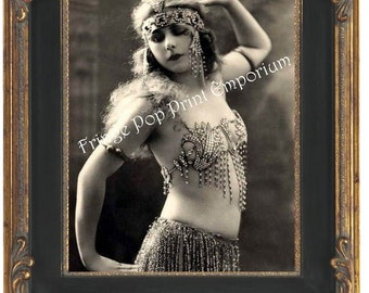 Art Nouveau Art Deco Flapper Art Print 8 x 10 - Cleopatra Egyptian 2