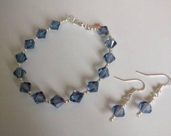 Denim Blue Swarovski Earrings