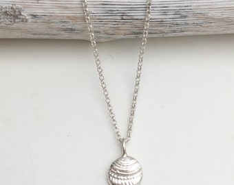 Sterling Silver Cast Sea Shell Necklace