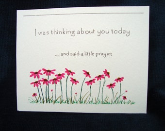 I was thinking about you today and said a little prayer - a set of 5 prayer cards