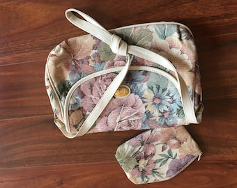 Vintage MITZI floral purse and coin purse