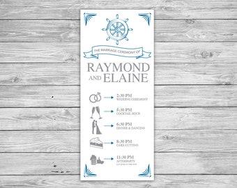 DIY Printable Nautical Wedding Program