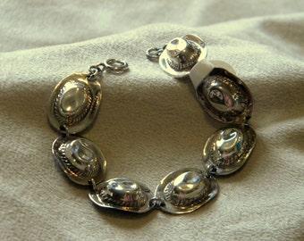 Sterling Silver Cowboy Hat Link Bracelet