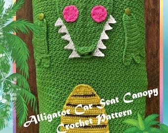 Alligator Car Seat Canopy Crochet Pattern PDF-INSTANT DOWNLOAD