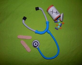 Nurse Doctor Medical Themed Fondant Cake Toppers