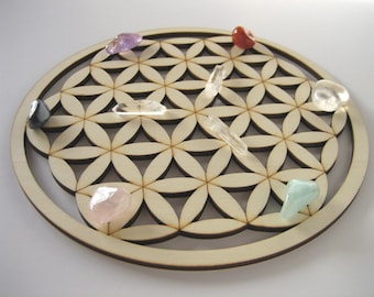 LARGE Size. FLOWER of LIFE Wooden Crystal Grid. Flower of Life Grid. Wooden Crystal Grid. Crystal Grid. Wooden Mandala. Wooden Coasters