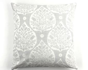 Galbraith & Paul Little Lotus Pillows (shown in Light Vapor on  Logan White-comes in several colors)