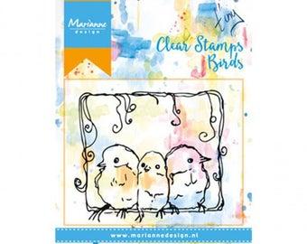 Stamp clear Marianne Design, Birds, birds, mixed media, Scrapbooking, Cardmaking, crafting