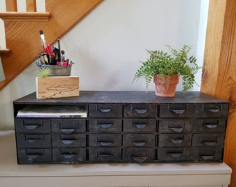 Industrial 22 Drawer File Cabinet Parts Bin Black Metal Tool Bin Small Parts Bin Send zip code for ship quote