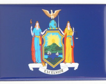 New York State Flag Fridge Magnet