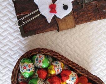 Rabbit paper clip; Felt paper clip; Planner clip; Rabbit bookmark; Planner accessories; Stocking stuffers; Gift under 5; Party favors.