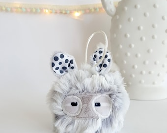"""Small dots"" - hanging plush Monster"