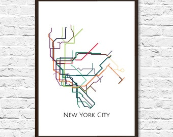 new york city new york metro map nyc subway map transit map nyc map art new york subway map subway poster art new york subway
