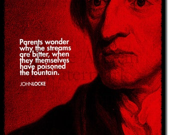 John Locke Original Art Print - 12x8 Inch Photo Poster Gift  Quote - Philosophy