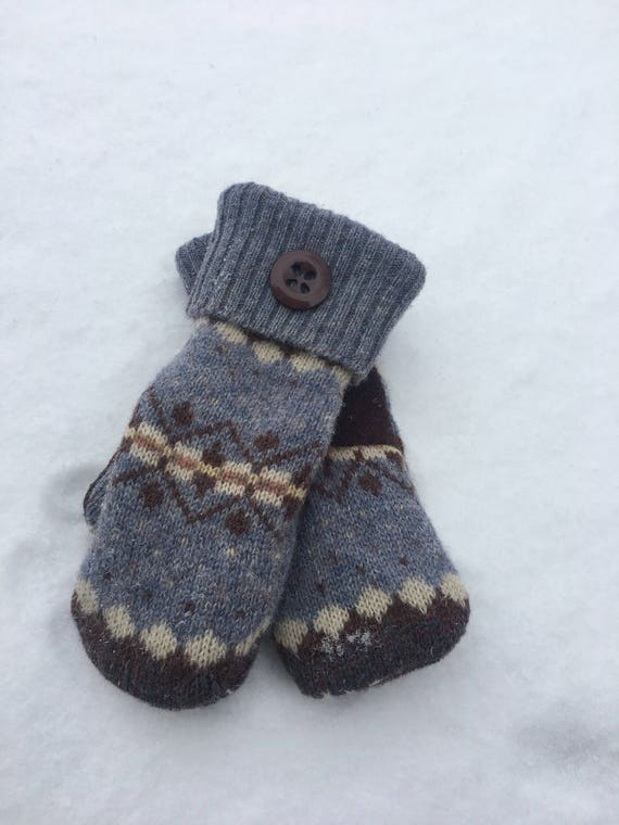 Handmade Recycled Sweater Mittens