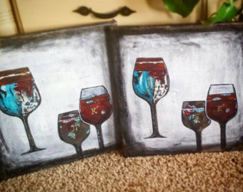 Girlfriends and wine