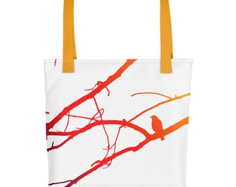 Tote bag, Colorful Bird in Tree