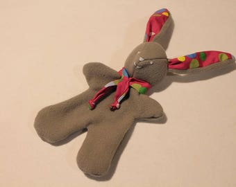 Cuddly soft fleece grey Bunny: