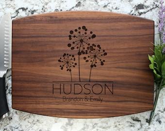 Personalized Cutting Board - Engraved Cutting Board, Custom Cutting Board, Wedding Gift, Housewarming Gift, Anniversary Gift W-005 GB