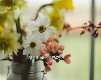Still Life Photograph, Wildflowers Photo, Rustic Home Decor