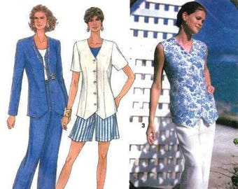 Simplicity Pattern  8487 Pull-on pants or shorts, semi fitted top.  Size 10-16 UNCUT