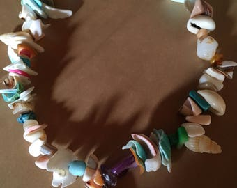 Sea Witch choker Small to Medium - shells and shell fragments - 1 of a kind just like the best days on the beach