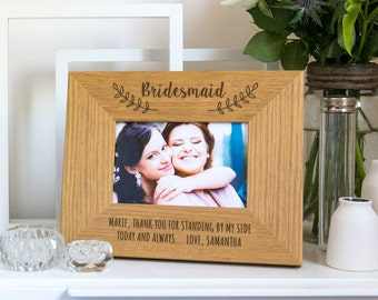 Bridesmaid Photo Frame Personalized Bridesmaid Gifts