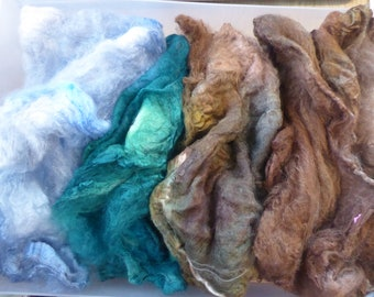 Hope Jacare - Just gorgeous approx 25g hand dyed silk hankies SH71