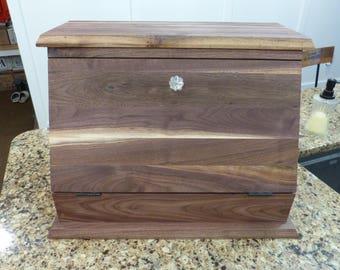 Black Walnut Bread Box