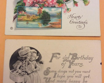 1920s postcards, unused