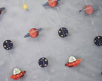Space Adventure Party Backdrop,Kids Party Decor, Space Themed Party Decorations, Rocket Ship Party Backdrop, Birthday Party Decorations,