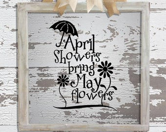 April Showers Decal