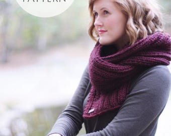 Knitting Pattern / Knit Scarf Pattern / Knit Pattern / PDF File / Instant Download / Chunky Knit Scarf Pattern / - True North Scarf